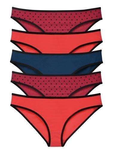 Sensu Kadın Basic Külot Karışık Renkler 5 Li Paket 1019 Renkli